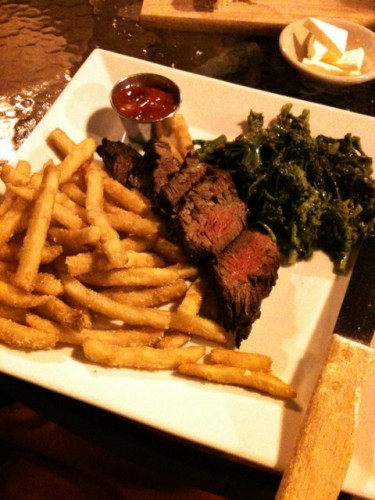 Steak, Fries and Broccoli